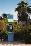 Cabina di telefono pubblico in Spagna Immagine Stock