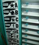 Cabina di voto Stati Uniti S.U.A. Fotografia Stock Libera da Diritti