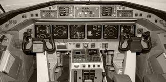 Cabina do piloto. Fotografia de Stock Royalty Free