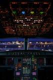 Cabina do piloto de Airbus fotos de stock royalty free