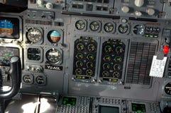 Cabina do piloto de aviões Imagem de Stock Royalty Free