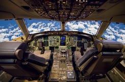 Cabina do piloto de aviões. Fotografia de Stock