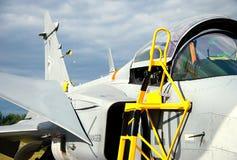 Cabina do piloto de aviões de combate. imagens de stock