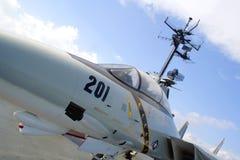 Cabina do piloto de aviões do lutador F-14 Imagens de Stock