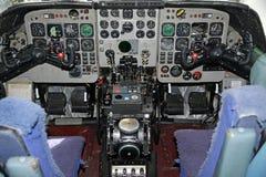 cabina do piloto de aviões do nimrod mr.2 Fotos de Stock Royalty Free