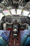 Cabina do piloto de aviões do Nimrod mr.2 Imagens de Stock