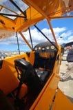Cabina do piloto de aviões leves Foto de Stock
