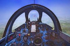 Cabina do piloto de Flight Simulator fotografia de stock royalty free