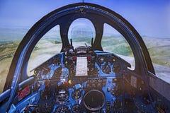 Cabina do piloto de Flight Simulator imagem de stock royalty free