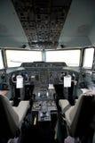 Cabina do piloto de um avião Fotografia de Stock Royalty Free