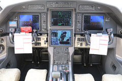 Cabina do piloto de um avião Foto de Stock Royalty Free