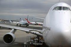 Cabina do piloto de um Boeing 747 Imagens de Stock Royalty Free