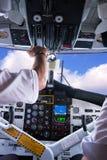 Cabina do piloto do avião. Fotografia de Stock