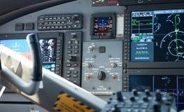 Cabina do piloto do avião Imagens de Stock Royalty Free