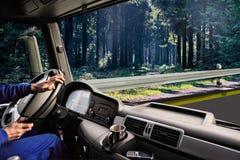 Cabina do piloto do caminhão imagem de stock royalty free
