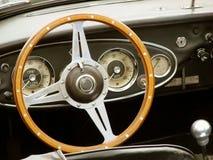 Cabina do piloto do carro do vintage fotos de stock royalty free