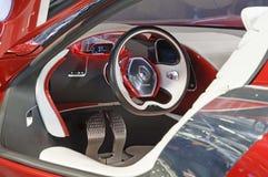 Cabina do piloto do conceito de Renault Dezir Fotos de Stock