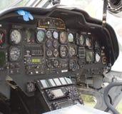 Cabina do piloto do helicóptero Imagem de Stock