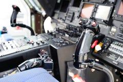 Cabina do piloto do helicóptero Imagens de Stock