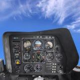 Cabina do piloto do helicóptero Fotos de Stock