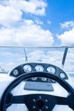 Cabina do piloto do iate Foto de Stock