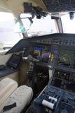 Cabina do piloto do jato do negócio Imagem de Stock