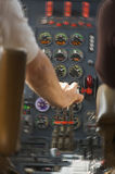 Cabina do piloto do jato - movimento adicionado Foto de Stock Royalty Free