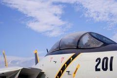Cabina do piloto F-14 imagem de stock