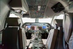Cabina do piloto interna G550 da vista Fotos de Stock Royalty Free