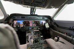 Cabina do piloto interna G550 da vista Imagem de Stock