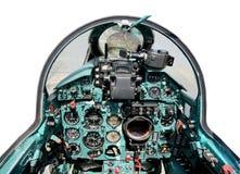 Cabina do piloto mig21 Fotografia de Stock