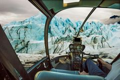 Cabina do piloto na geleira foto de stock royalty free