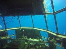 Cabina do piloto subaquática foto de stock royalty free