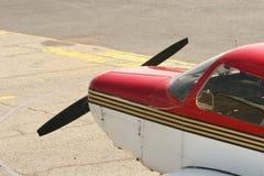 Cabina do piloto vermelha imagem de stock royalty free