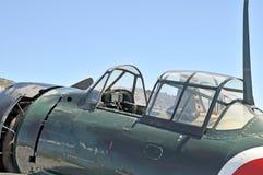 Cabina do piloto zero do japonês Fotografia de Stock