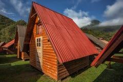 Cabina en camping fotos de archivo libres de regalías