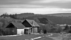 Cabina en el valle Imagenes de archivo