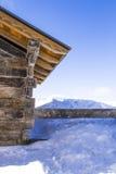 Cabina en la nieve, España Imagen de archivo libre de regalías