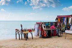 Cabina en la playa Fotografía de archivo