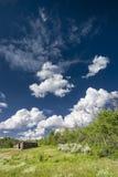 Cabina en la pradera de Wyoming Imagenes de archivo