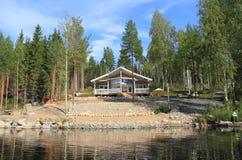 Cabina finlandese moderna fotografia stock