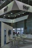 Cabina globale del fornitore di servizi via satellite di SES Fotografia Stock