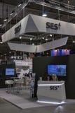 Cabina globale del fornitore di servizi via satellite di SES Immagine Stock Libera da Diritti