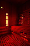 Cabina infrarroja de la sauna Imágenes de archivo libres de regalías