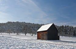 Cabina in inverno Immagine Stock