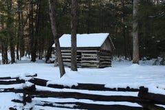Cabina in legno Fotografie Stock