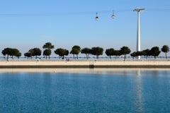 Cabina Lisboa del cable Imagen de archivo