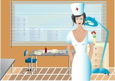 Cabina médica stock de ilustración