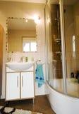 Cabina moderna de la ducha Fotografía de archivo