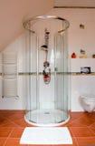 Cabina moderna dell'acquazzone Fotografia Stock Libera da Diritti
